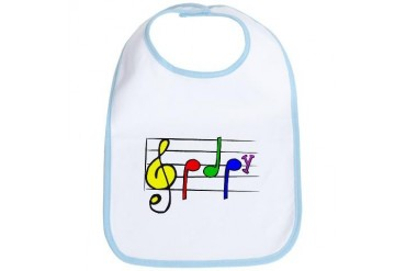 Music Baby Music Bib by CafePress
