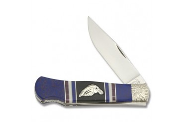 "Brian Yellowhorse ""Wild Horse"" Limited Edition Custom Queen Cutlery Mountain Man Lockback"