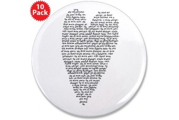 Black and white 3.5 Button 10 pack by CafePress