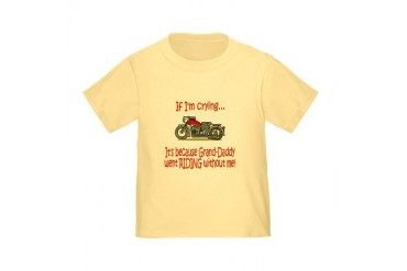 Biker Baby Cry - Grandad Toddler T-Shirt