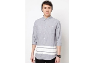 Long Sleeve Shirt With Contrast Panel
