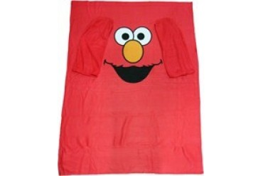 Sesame Street Elmo Face Sleeved Blanket