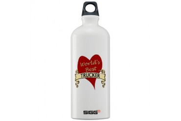 Trucker Sigg Water Bottle 1.0L by CafePress
