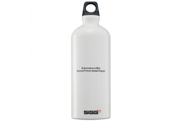 2-Ignorance.psd Humor Sigg Water Bottle 1.0L by CafePress