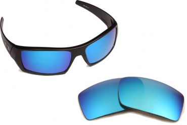 New SEEK Replacement Lenses Oakley GASCAN - Polarized Silver Red Blue