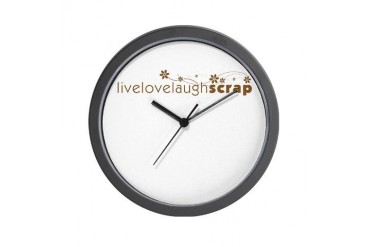 Live Love Laugh Scrap Hobbies Wall Clock by CafePress
