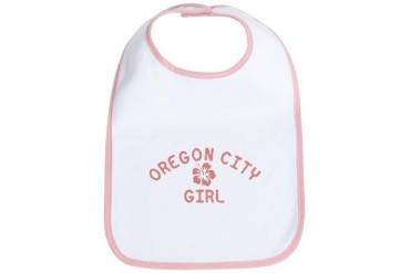 Oregon City Pink Girl Oregon Bib by CafePress
