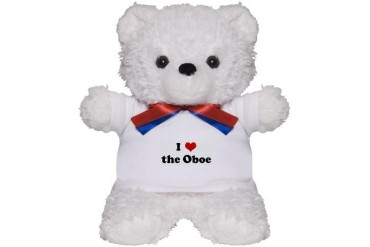 I Love the Oboe Humor Teddy Bear by CafePress