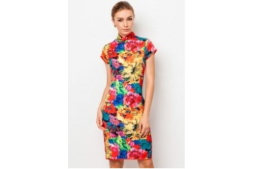 Short Sleeve Cotton Qipao