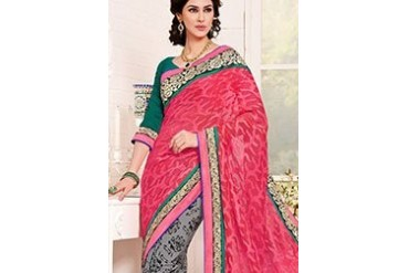 Amazing half n half saree