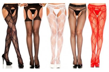 Women s Fashion Suspender Hosiery Pantyhose in Regular and Plus Sizes