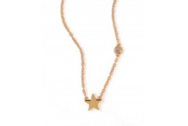 Shy by Sydney Evan Star Necklace With Diamond Bezel Gold