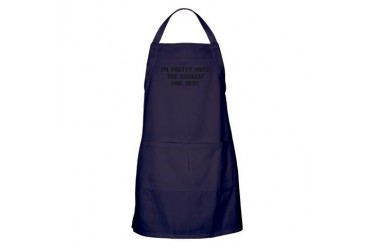 I'm Pretty Much Cupsreviewcomplete Apron dark by CafePress