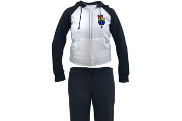 Pride Peace Gay Women's Tracksuit by CafePress