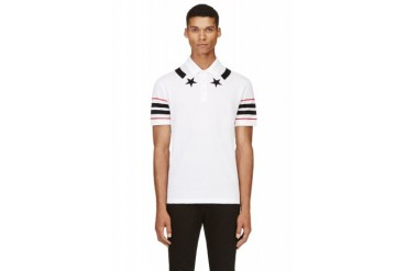 Givenchy White Stars And Stripes Polo