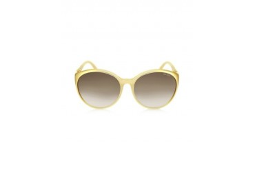 MARINE/S BVFJS Gold Round Frame Sunglasses