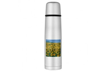Field Of Sunflower Large Thermos Bottle Art Large Thermosreg; Bottle by CafePress