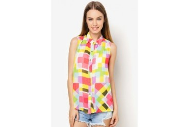 Another Colorful Sleeveless Top