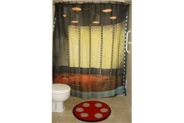 Star Trek Transporter Room Shower Curtain Bath Mat Combo
