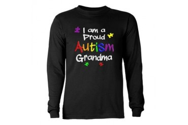 Autism Will Not Define My Son LOGO - Long Sleeve D Autism Long Sleeve Dark T-Shirt by CafePress