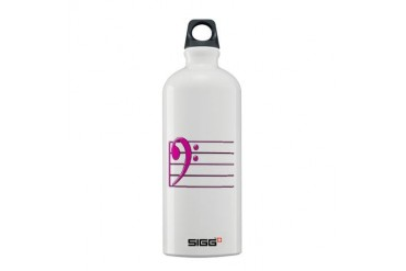 BASS CLEF STAFF- PINK copy.png Sigg Water Bottle 0 Music Sigg Water Bottle 0.6L by CafePress