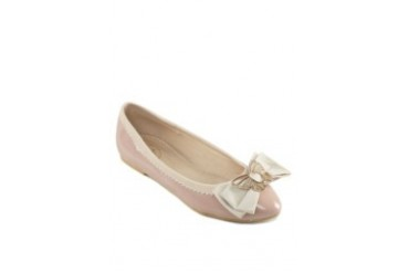 Gold Butterfly Topped Ribbon Flats