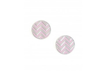 Foxy Originals Zig Zag Post Earrings Lite Pink