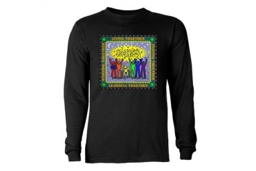 Celebrate Diversity Cool Long Sleeve Dark T-Shirt by CafePress