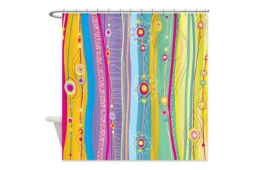 Funky Stripes Shower Curtain
