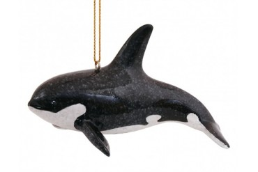 Great Orca Sea Life Resin Christmas Holiday Ornament Cape Shore
