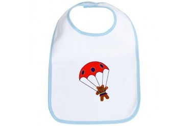 Teddy with Parachute Baby Bib by CafePress