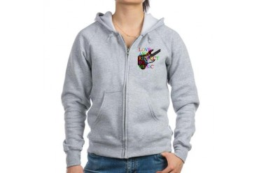 bass2 Music Women's Zip Hoodie by CafePress
