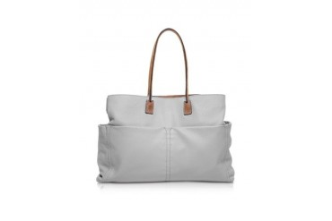 Concorde Large Gray Leather Tote