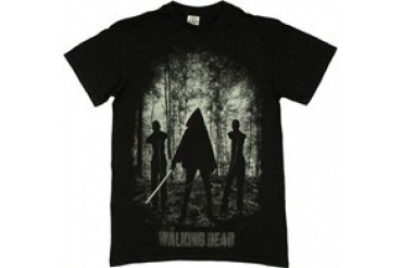The Walking Dead Michonne Introduction Katana Chained Zombies T-Shirt