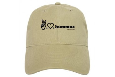 peace, luv, hummus Food Cap by CafePress