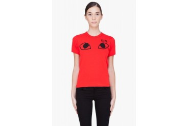 Comme Des Garons Play Red Eye T shirt