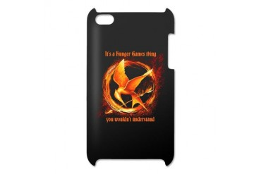 Personalize Flaming Mockingjay Ipod Touch 4 Case