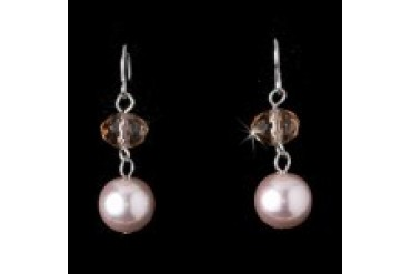 Elegance By Carbonneau Earrings - Style E8362-Pink