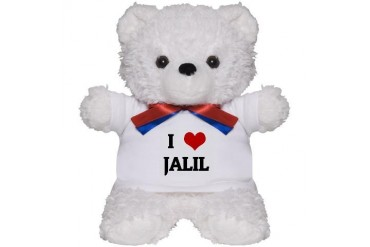 I Love JALIL Humor Teddy Bear by CafePress