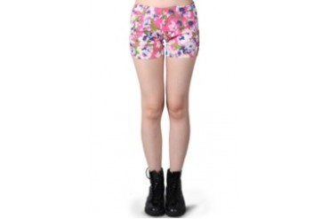 Miss Me Flowery Shorts