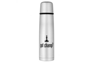 Champion Large Thermos Bottle Funny Large Thermosreg; Bottle by CafePress