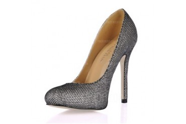 Leatherette Stiletto Heel Closed Toe Pumps (085017462)