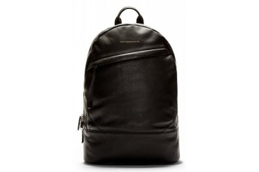 Want Les Essentiels De La Vie Black Leather Kastrup Backpack