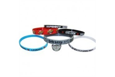 Big Bang Theory 6 Pack Rubber Bracelet Wristband Set
