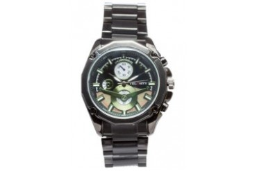 Green Dial Metal Case and Strap Watch