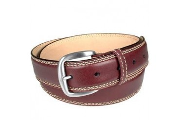 Reddish Brown Smooth Leather Belt