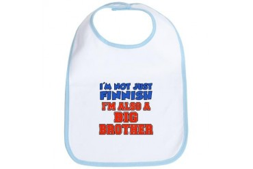 Not Just Finnish Big Brother Big brother Bib by CafePress