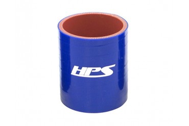 HPS 1 58 Inch 41mm 4-ply Reinforced Straight Coupler Silicone Hose Blue