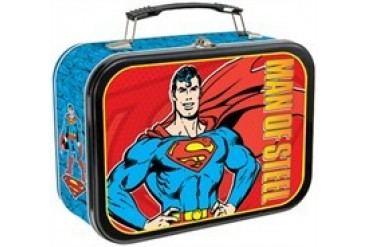 DC Comics Superman Man of Steel Tin Tote Lunch Box
