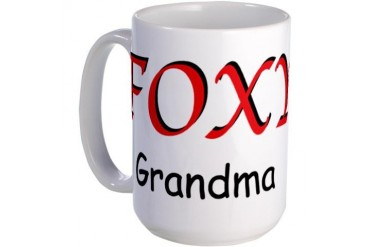 Foxy Grandma Mother's day Large Mug by CafePress